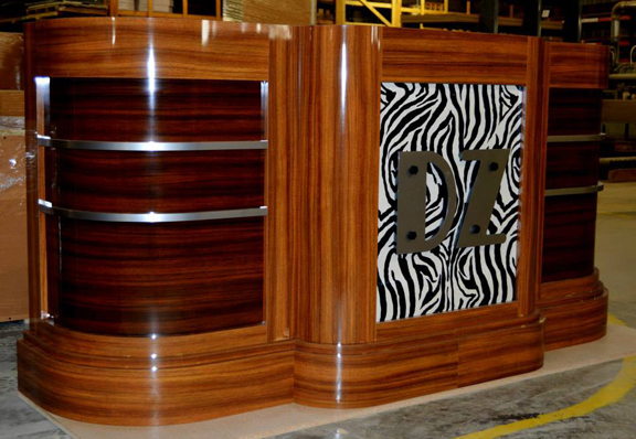 Custom Hostess Reception Stand