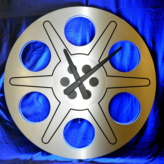 Retro Film Reel Clock